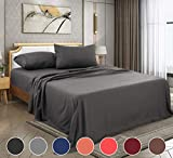 FAIRYLAND Queen Bed Sheets Set,Bed Sheets Queen Set,Sheets for Queen Size Bed,Bed Sheet Set Soft Microfiber 4-Piece,16 Inch Deep Pocket Fitted Sheets,1800 (Queen-Dark Grey)