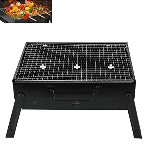 AIMEITE Grill,Tragbarer Holzkohlegrill Portabel BBQ Grill Gefalteter Holzkohlegrill aus Edelstahl Campinggrill Klappgrill Picknickgrill Outdoor Holzkohlegrill Transportabel