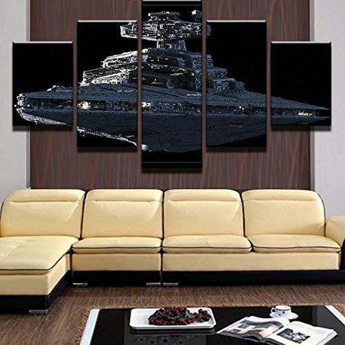 45Tdfc 5 Piezas Star Wars Imperial Star Destroyer 1- Fondo Pintura de la Pared La impresión de la Imagen en la Lona Art Fotos de la Obra para la Decoración Moderna del Ministerio del Interior