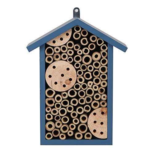 TZSSP Bee House Outdoor Handmade Wood and Bamboo Attract More Pollinating Wooden Insect Hotels Bees...