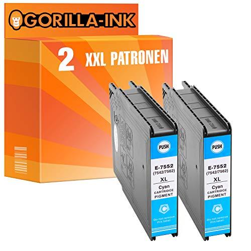 Gorilla-Ink 1 Patrone XXL GI-7553 M kompatibel mit Epson Work-Force Pro WF-8000 WF-8010 WF-8090 WF 8510 WF-8590 WF-6530 Magenta