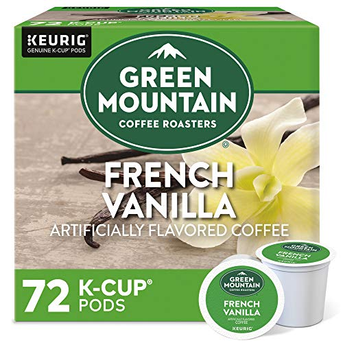 Green Mountain Coffee Roasters French Vanilla, Single-Serve Keurig K-Cup Pods, Flavored Light Roast Coffee, 72 Count