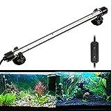 NICREW Lampe LED Submersible pour Aquarium, LED Lampe Étanche avec Contrôleur Filaire, Lumière Blanche et Bleue pour Aquarium, 6W