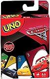 Juegos Mattel-Cars Uno, Juego de Cartas (FDJ15)
