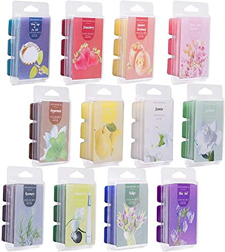 Scented Wax Melts -Set of 12 (2.5 oz) Assorted Wax Warmer Cubes/Tarts