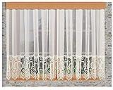 Stores von kollektion.MT Store Margaret Naturfarben mit 30 cm breiter Spitzenkante aus Echter Plauener Spitze mit Reihband Fertiggardine