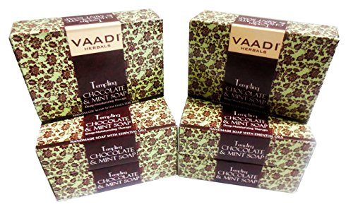 Chocolate and Mint Bar Soap - Deep Moisturising Therapy - Handmade Herbal Soap (Aromatherapy) with 100% Pure Essential Oils - ALL Natural - Best Moisturizer - Each 2.65 Ounces - Pack of 6 (16 Ounces)
