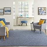 Nourison Positano Flat-Weave Indoor/Outdoor Navy Blue 5' x 7' Area Rug , 5' x 7'
