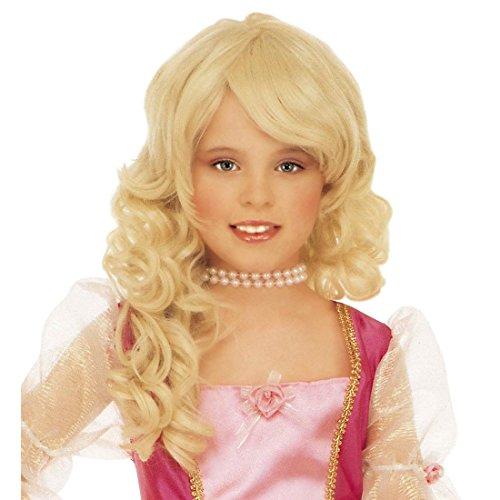 NET TOYS Perruque Enfant Princesse Blonde Perruque de Carnaval Princesses Perruque de Princesse Perruque d'enfant Blonde Carnaval