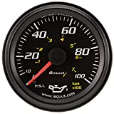Equus 6244 2' Mechanical Oil Pressure Gauge, Black