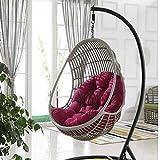 GOPG Altalena Sedia Cuscino, Spessa Impermeabile Accogliente Hanging Egg Chair Cuscini di Seduta Adatto a Poltrona Pensile Giardino Terrazza-K-120X90cm(47X35pollice)