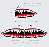 COLIBYOU Flying Tigers Shark Teeth Decal Sticker 1.5' T X 3.5' Military Airplane Shark Stickers Motorcycle Helmet Stickers Airplane Stickers Shark Mouth Decal