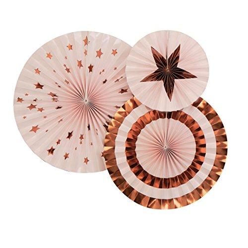 Neviti 774021 Glitz and Glamour Pinwheels, Pink/Rose Gold
