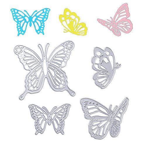VINFUTUR 4pcs Troqueles Scrapbooking Mariposa Troqueles Corte Metal Plantillas Troquelado Cutting Dies...