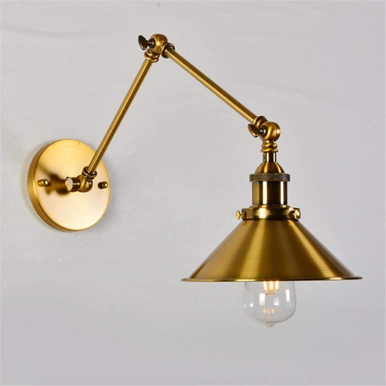 WYH Industrial Swing Lange Arm Wandleuchte LED Gold Kupfer Antik Retro Wandleuchte Loft Edison Leuchter Vintage Light