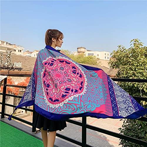 Bufanda de viaje de vacaciones playa bohemia étnica algodón y lino bufanda mujer protector solar chal foto del desierto bufanda de seda ciclismo protector solar mantón