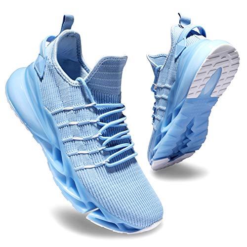 Deevike Schuhe Damen Wanderschuhe Sneaker Laufschuhe Sportschuhe Turnschuhe Walkingschuhe Joggingschuhe Blau weiß-35