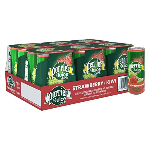Perrier Fusions, Strawberry and Kiwi Flavor, 8.45 Fl Oz Cans (24 Count)