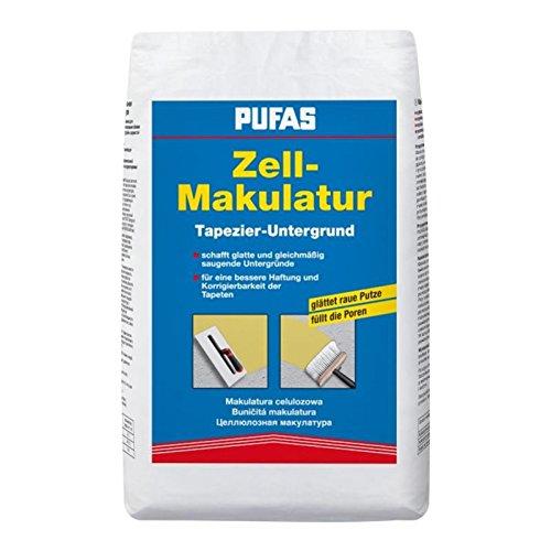 PUFAS Zell Makulatur 5kg - Untergrundvorbereitung Tapezierarbeiten