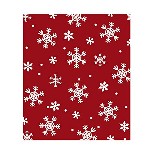 Manta de lunares de copo de nieve de Navidad, multifuncional, manta cálida y difusa para sofá de ropa de cama de invierno, manta roja de felpa navideña, regalo para familiares, niños, amigos