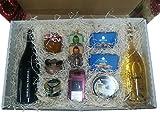 Selección gourmet en cesta de regalo para obsequios