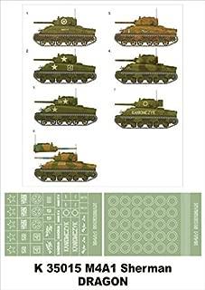 Montex Super Mask 1:35 M4A1 Sherman for Dragon Kit Spraying Stencil #K35015