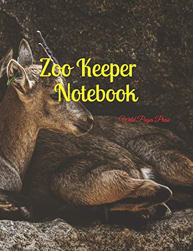 Zoo Keeper Notebook: Large Size 8.5 x 11 Ruled 150 Pages Softcover
