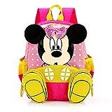 FGen Mochila Minnie,Mochila Minnie Mouse Infantil ,Mochila Infantil,Mochila de Gran Capacidad, para la Guarderia, Niña ,Niño (Rosa)