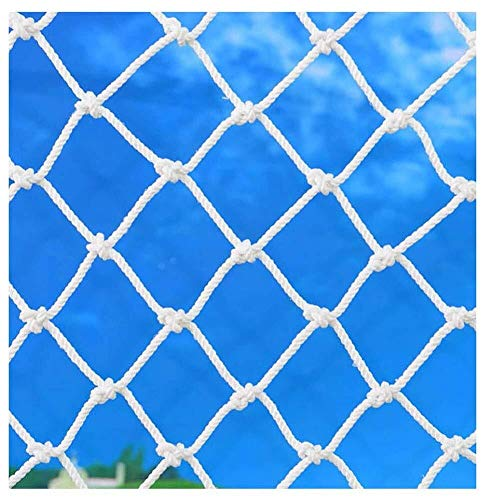 WWWANG Child Safety Net, Baby Fall Protection Mesh-Balkon, Terrassen und Außentreppen Geländer Netting, Sturdy Mesh Gewebe GefStoffV, Weiss staubdicht, Sonnenschutz (Size : 3 * 5M)