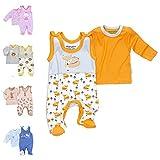 Baby Sweets 2er Baby-Set mit Strampler & Langarm-Shirt für Mädchen & Jungen/Baby-Erstausstattung in Weiß-Orange-Grau im Fuchs-Design als Babykleidung/Baby-Outfit aus Bambus/Größe 6-9 Monate (74)