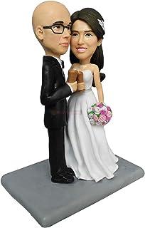 La torta nuziale personalizzata Topper personalizza dalla foto del regalo di figurine di coppia per la decorazione di nozz...
