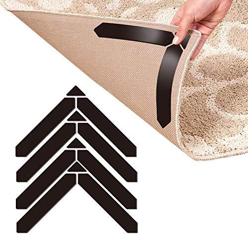 Mewtwo Teppich-Greifer, 12 Stück, Anti-Locken-Teppich-Greifer für Holzböden, waschbar, wiederverwendbar, stark haftend, 3M-Klebeband, 180 x 30 mm