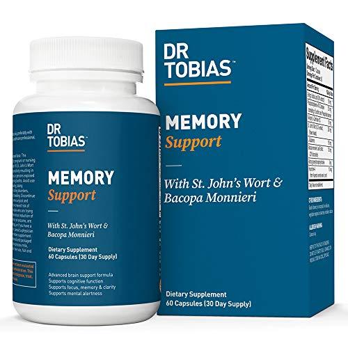 Dr Tobias - Memory Support - Contains Gingko Biloba, St. John's Wort & Bacopa Monnieri (60 Count)