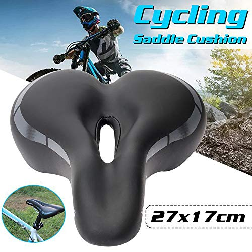 WERNG MTB/fietszadel, ademend uitsparing PU lederen fietszadel Ergonomisch ontworpen voor lange afstand fietsen door outdoor fietsen liefhebbers
