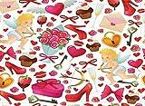 SHUHUI Alfombra temática del día de San Valentín,cojín de Franela Suave Antideslizante para baño Absorbente y Duradero de Cocina para la habitación de los niños