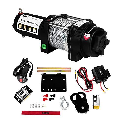 MSW Seilwinde Elektrisch PROPULLATOR 3500-PRO Traghaft 1587 Kg Motor mit Funkfernbedienung Plannetengetriebe