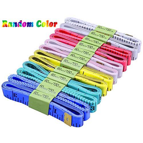 BESTZY Weiche Maßband, 12 Stück Tuch Maßband 150cm maßband Schneider für Nähen Tuch Herrscher Messwerkzeug (Zufällige Farbe)
