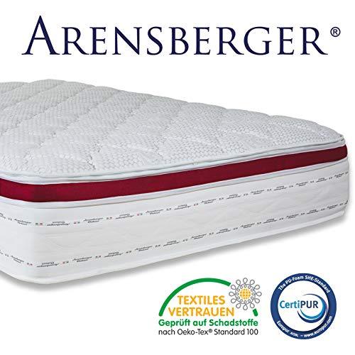 Arensberger ® Deluxx 9 Zonen Taschen-Federkern Matratze mit 3D-Memory Foam, Höhe 30 cm, 180 x 200 cm, Visco & Kaltschaum