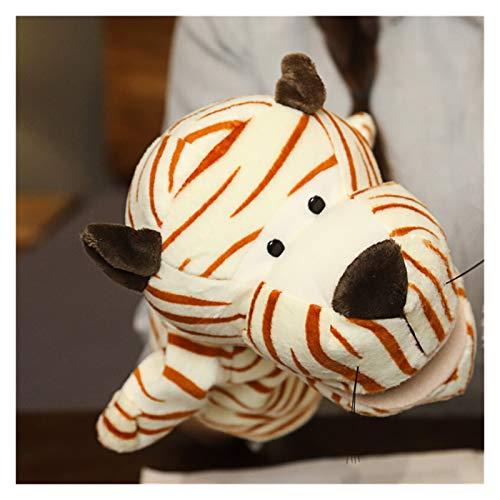 Jfsmgs Juguetes de Peluche Animal Peluche muñeca Juguetes educativos fingir Play Suave Lindo Juguetes títere Tela muñecas Padres-niño Juego Accesorios (Color : Tiger 1)
