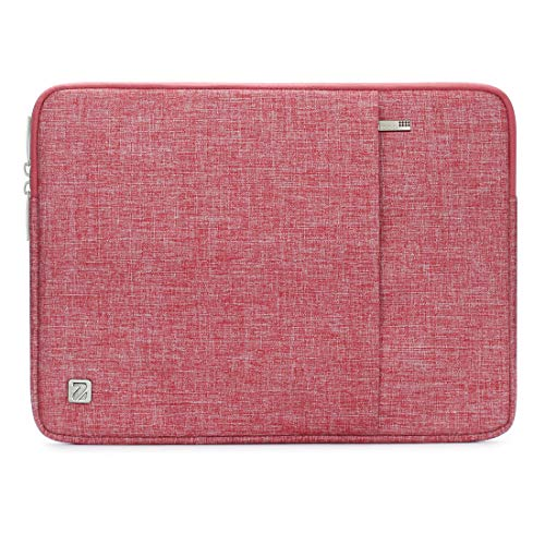 NIDOO 15 Inch Water-Resistant Laptop Sleeve Case Protective Bag Portable Pouch For 15' 16' MacBook Pro / 15' Surface Book 2 3/15' Notebook 9 Pro / 14' Ideapad 330/15' New XPS 15/15' MateBook D 15,Red