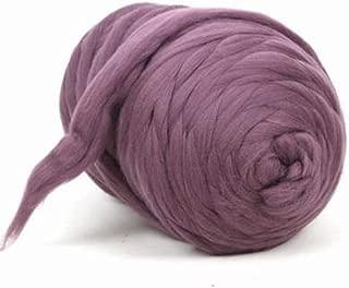 Giant Wool Yarn Chunky Arm Knitting Super Soft Wool Yarn Bulky Wool Roving (2 kg/4.4 lbs, Blush Pink)