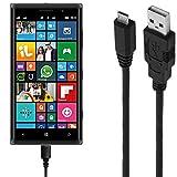 ASSMANN Ladekabel/Datenkabel kompatibel für Nokia Lumia 830 - Schwarz - 3M