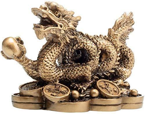 Chinesische Feng-Shui-Drachen-Statue zieht Reichtum & Glück an