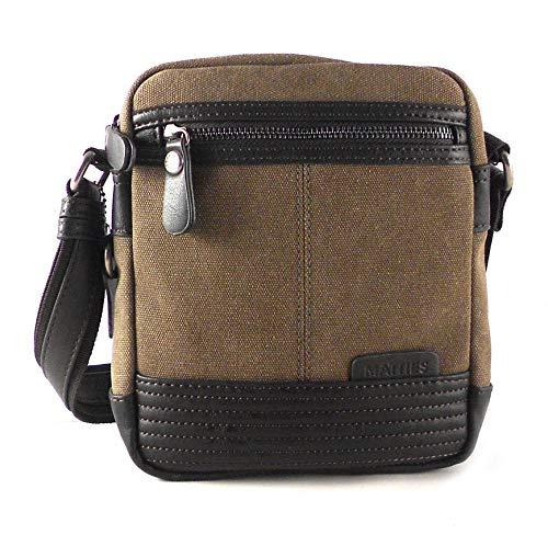 NILO Matties, bolso pequeño para hombre marrón con cremalleras