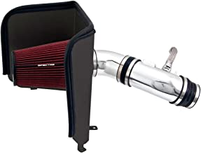 Spectre Performance Air Intake Kit with Washable Air Filter: 2007-2001 Toyota (Tundra, Sequoia) 5.7L V8,  Red Oiled Filter with Polished Aluminum Tube, SPE-9963