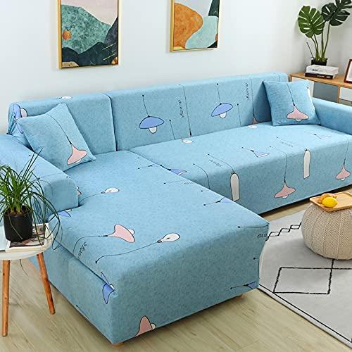 Funda de sofá elástica, Utilizada para la decoración de la Sala de Estar, Funda de sofá de impresión, Suave, Universal, Funda elástica de sección Transversal A13 de 2 plazas