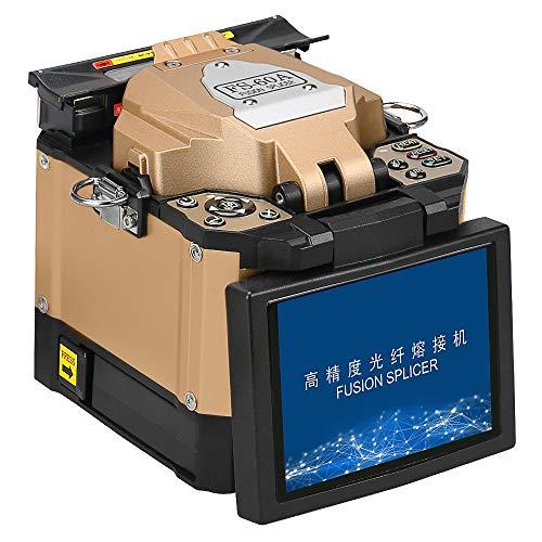 COMPTYCO FS-60A Fiber Fusion Splicer Splicer Automático de Fusión de Fibra Óptica Integra Localizador Vivo de averías y Medidor de Potencia Óptica y Kit