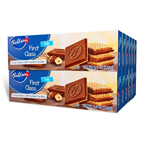 Bahlsen First Class Milk Cookies (12 boxes) - Hazelnut wafers covered in...