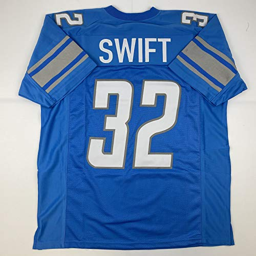 Unsigned D'Andre Swift Detroit Blue Custom Stitched Football Jersey Size Men's XL New No Brands/Logos