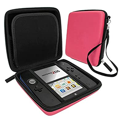 Zedlabz hard protective eva carry case for Nintendo 2DS with built in game storage - Pink